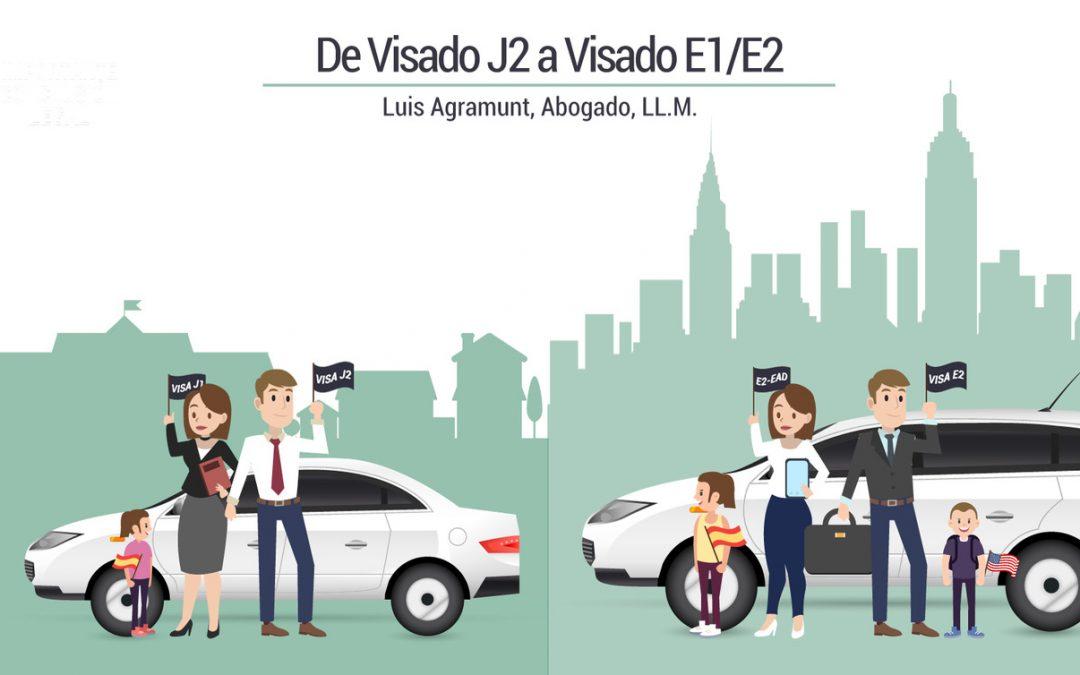 De Visado J2 a Visado E1/E2 de Emprendedor
