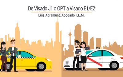 De Visado J1 o OPT a Visados E1/E2